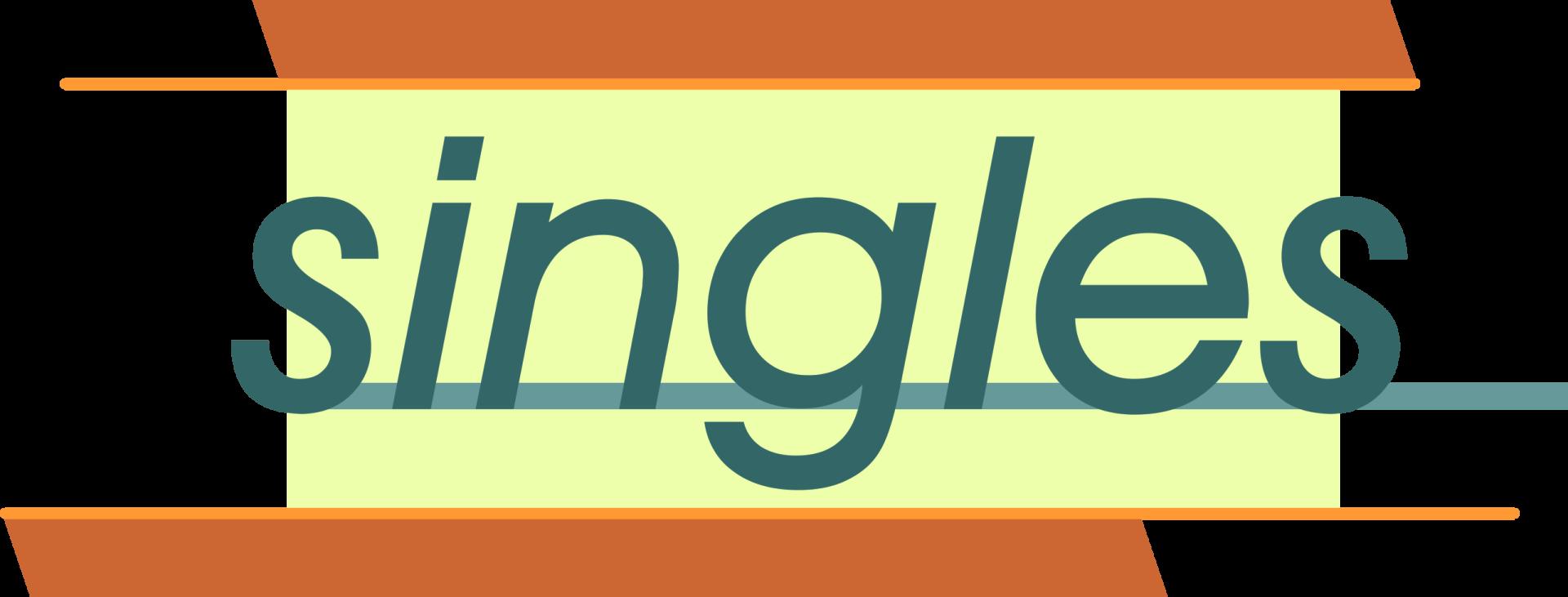 Singles logo no BG